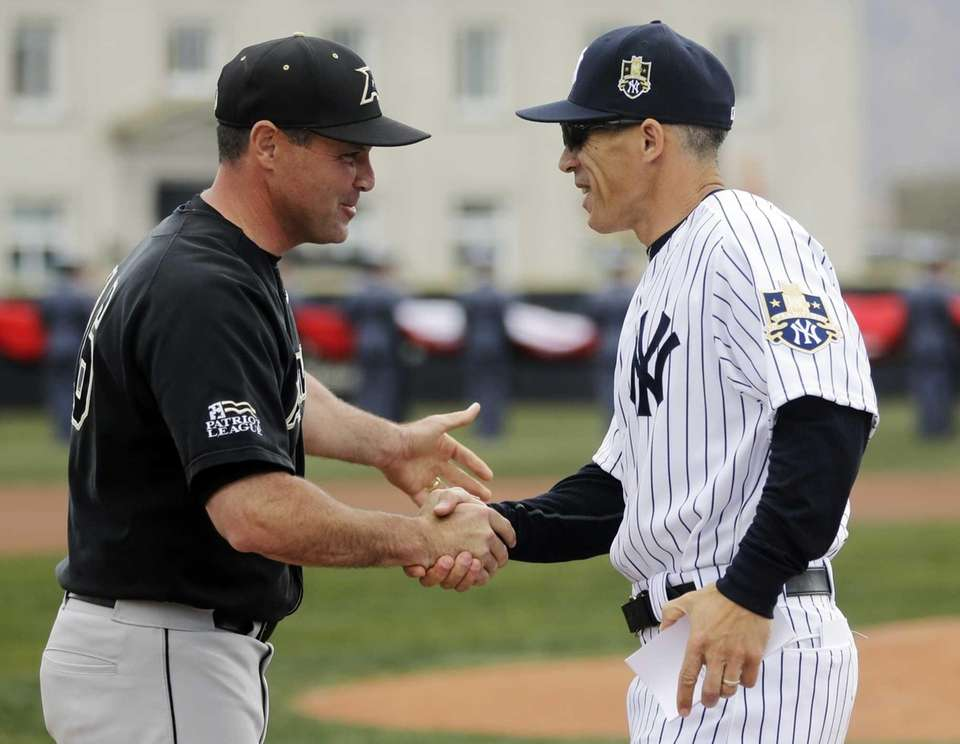 Army head coach Joe Sottolano (left) and New