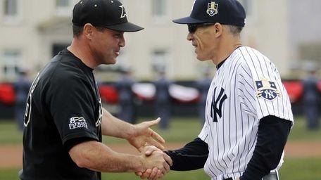 Army head coach Joe Sottolano (left) and New