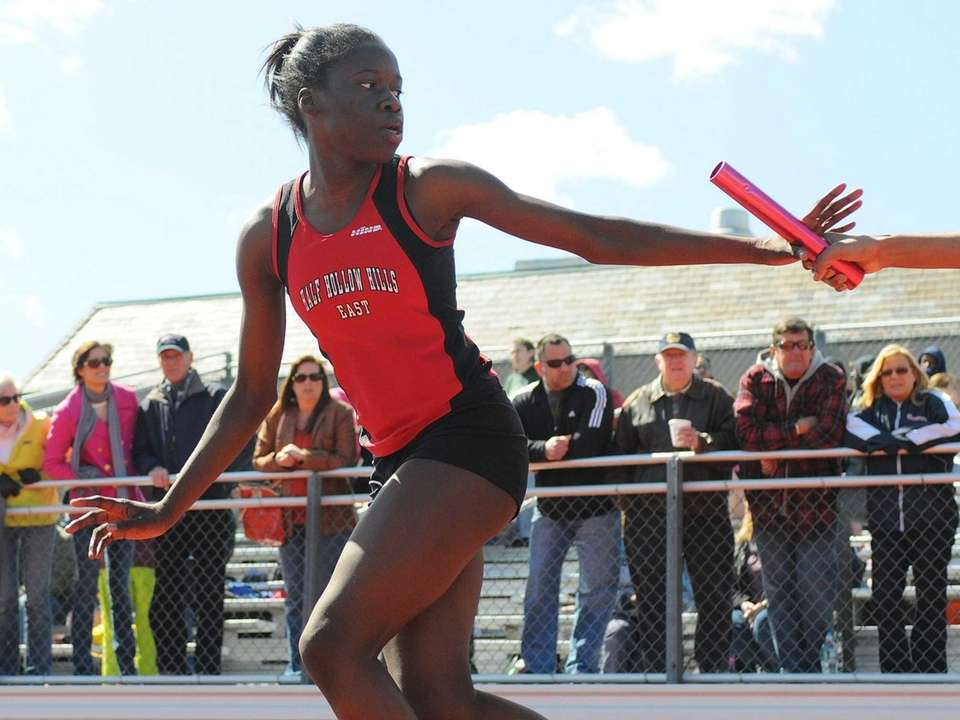 Half Hollow Hills East freshman Mary Chimezie prepares