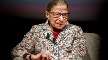 Supreme Court Justice Ruth Bader Ginsburg is seen