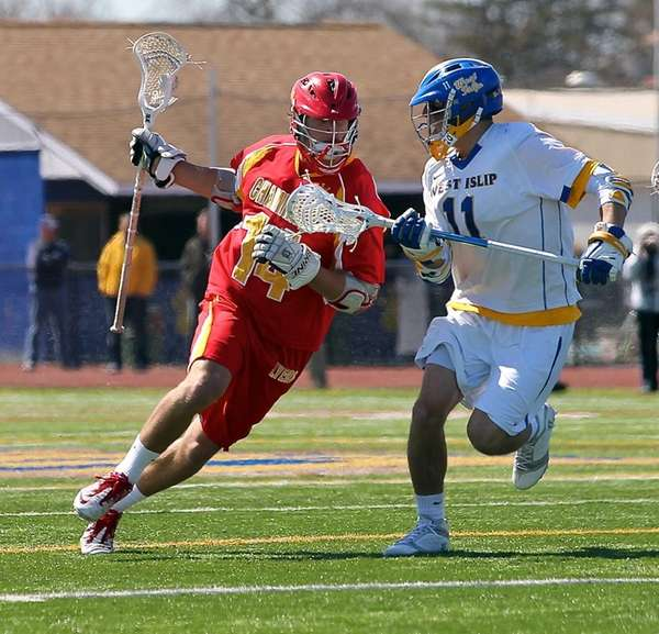 Chaminade's Thomas Zenker looks to get past West