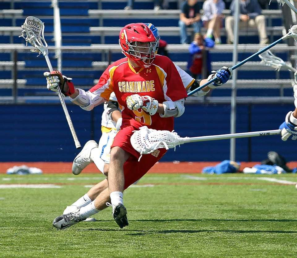Chaminade's James Roberts stick handles his way into