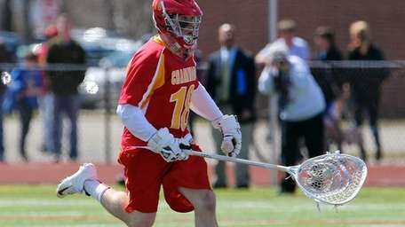 Chaminade goalie Daniel Fowler moves the ball through