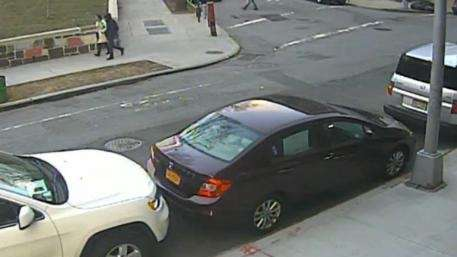A surveillance video shows a couple, moments before