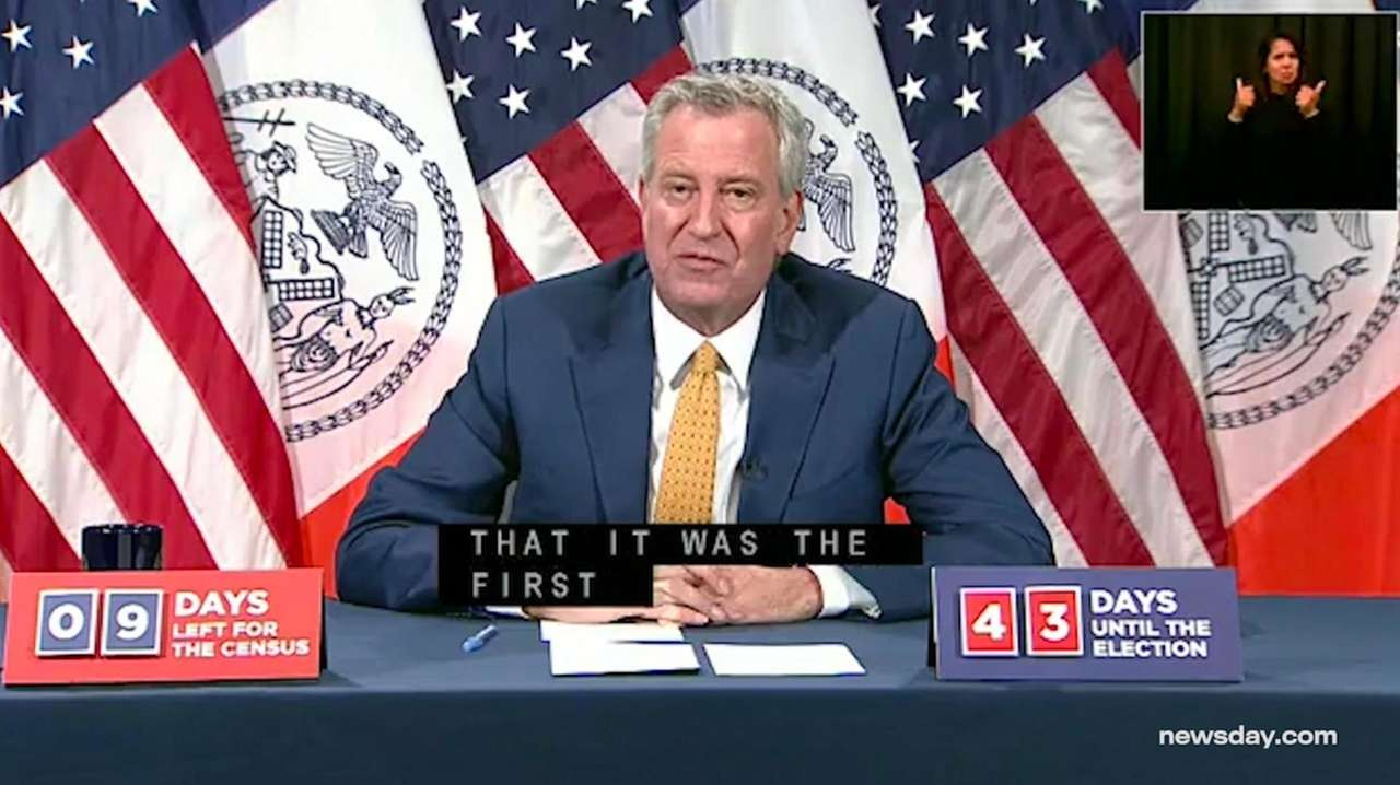 On Monday, Mayor Bill de Blasio said the