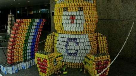 More than 48,000 cans of food were assembled