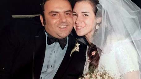 Dominick and Cynthia Mupo on their wedding day,