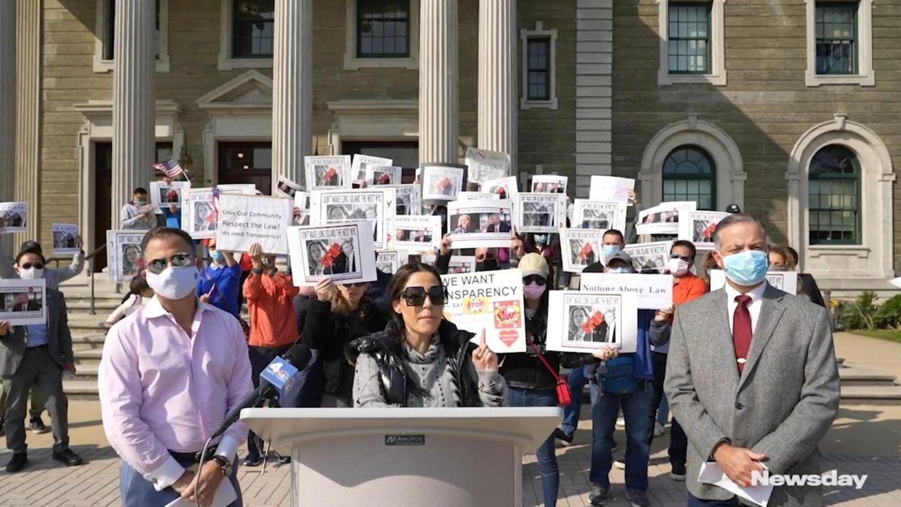 Protest organizers say Nassau County Executive Laura Curran