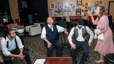 Actors rehearse a play at Lindenhurst's Manes Studio