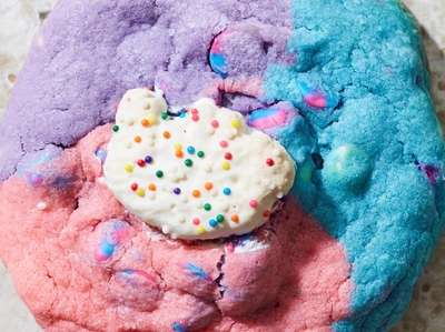 Cotton candy circus sugar cookie made with cotton