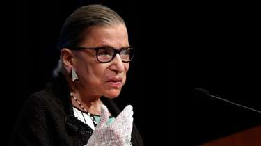 Supreme Court Justice Ruth Bader Ginsburg speaking at