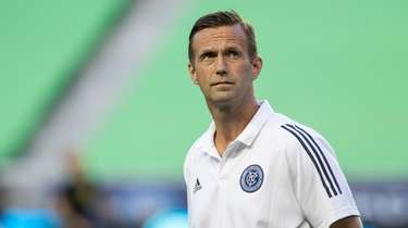 New York City FC coach Ronny Deila looks