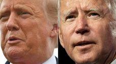 President Donald Trump and Democratic presidential nominee Joe