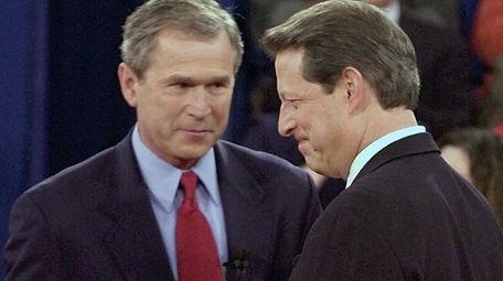 Republican presidential candidate Texas Gov. George W. Bush,