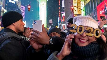 The typical Times Square revelery will be put