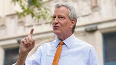 Mayor Bill de Blasio, shown in August, said
