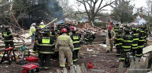 An explosion destroyed a Brentwood home on April 24, 2011.