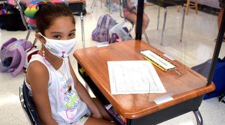 In Wantagh, Mandalay Elementary School third-grader Gianna Indiviglia