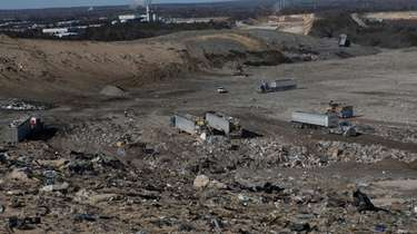 The Brookhaven Town landfill is seen on Feb.