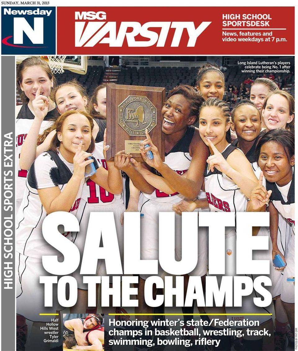 The Long Island Lutheran girls basketball team made
