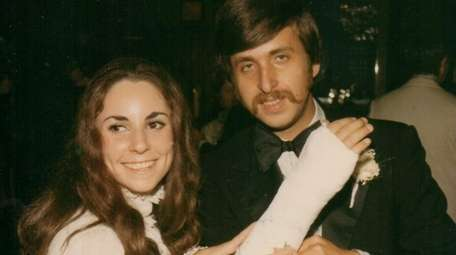 Penny and Stephen Reich on their wedding day,