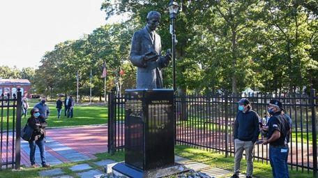 The Nikola Tesla statue at the Tesla Science