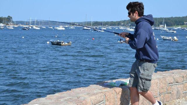 Eric Yadoo, fishing since age 9, tries his