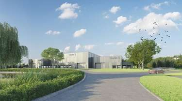 A rendering of the planned film studio in