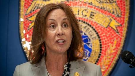 Suffolk County Police Commissioner Geraldine Hart at an