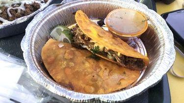 Tacos de birria at Taco Island, a new