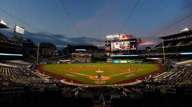 A general view as the Nationals play against