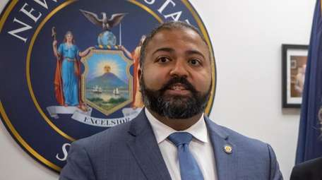 New York State Sen. Kevin Thomas during a