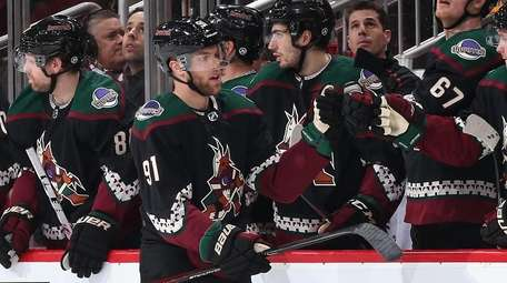 Taylor Hall of the Coyotes, a former Devil,