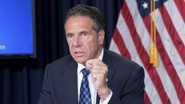 Gov. Andrew M. Cuomo at a press briefing