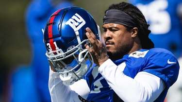 Devonta Freeman during Giants practice on Wednesday.