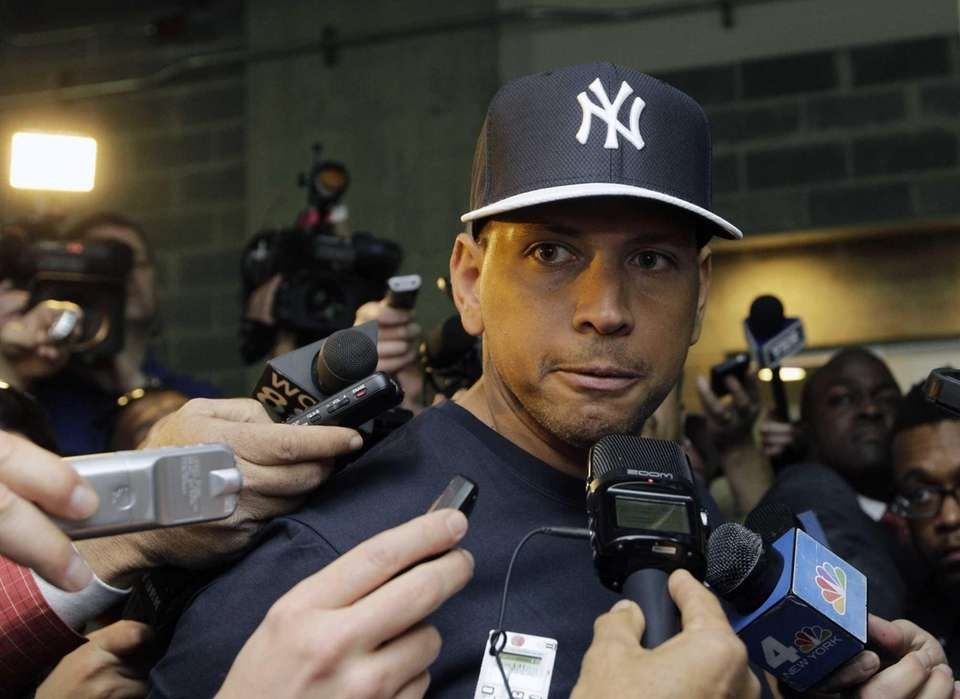 Alex Rodriguez, who is on the disabled list