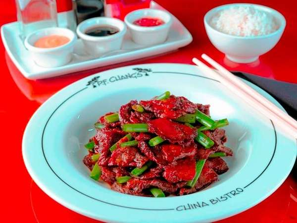 Mongolian beef at P.F. Chang's China Bistro.