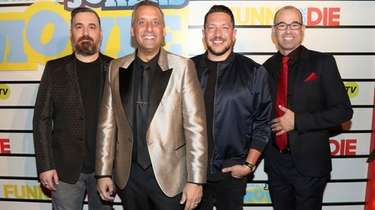 Cast members Brian Quinn, left, Joe Gatto, Sal