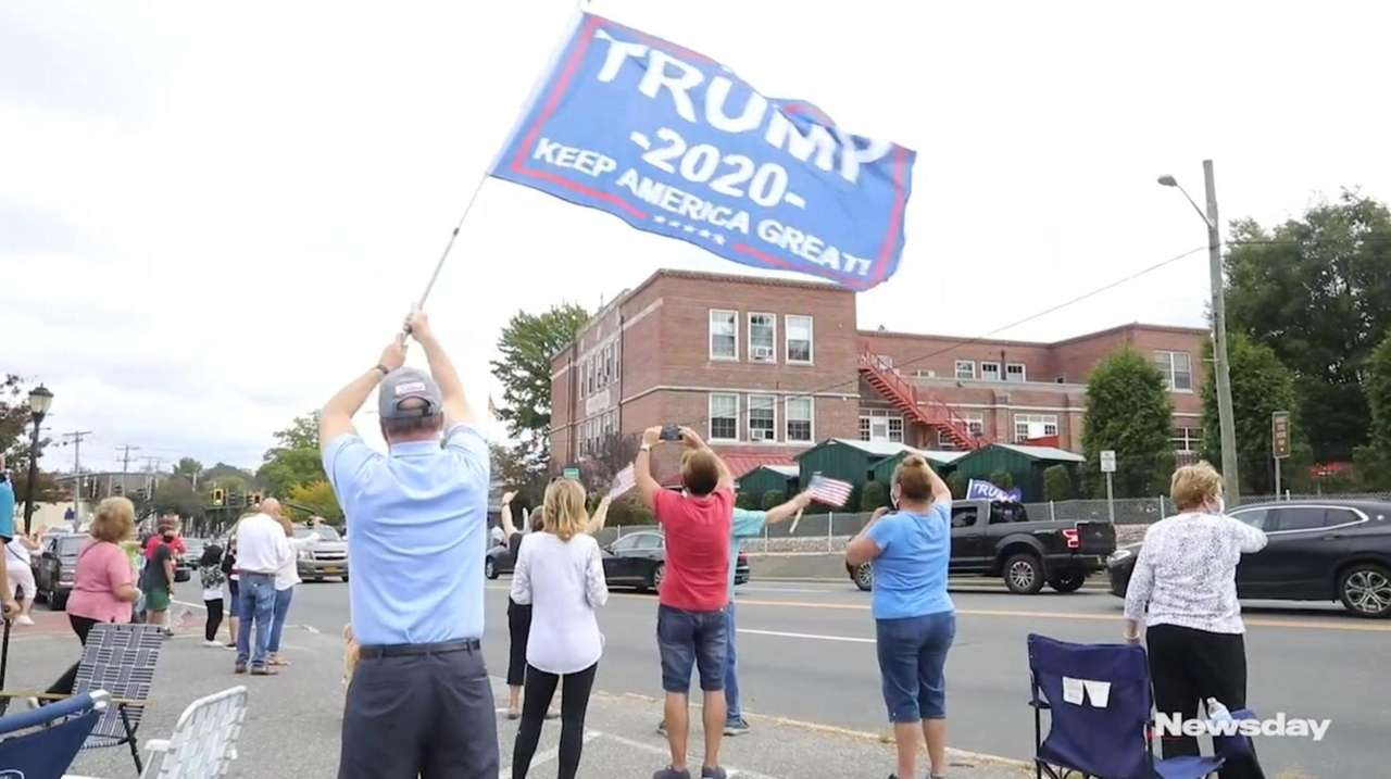 Long Islanders showed their support for President Donald