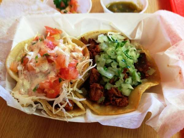 Two commendable tacos -- both chorizo and fish