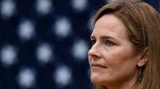 Judge Amy Coney Barrett speaks after being nominated