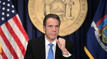 Governor Andrew M. Cuomo during his coronavirus briefing