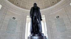 Thomas Jefferson, memorialized in a monument in Washington,