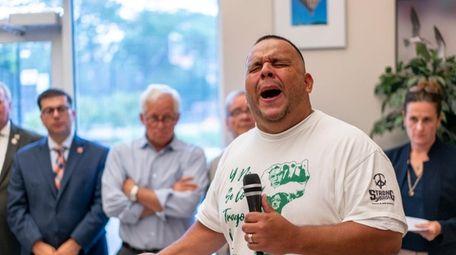 Sergio Argueta, leader of the S.T.R.O.N.G. Youth Inc.,