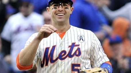 David Wright smiles after the Mets defeated the
