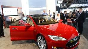 The Tesla Model S is introduced at the