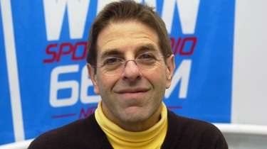 WFAN's Mark Chernoff at the station's old studios