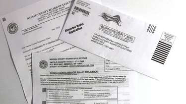 The application for an absentee ballot for Nassau