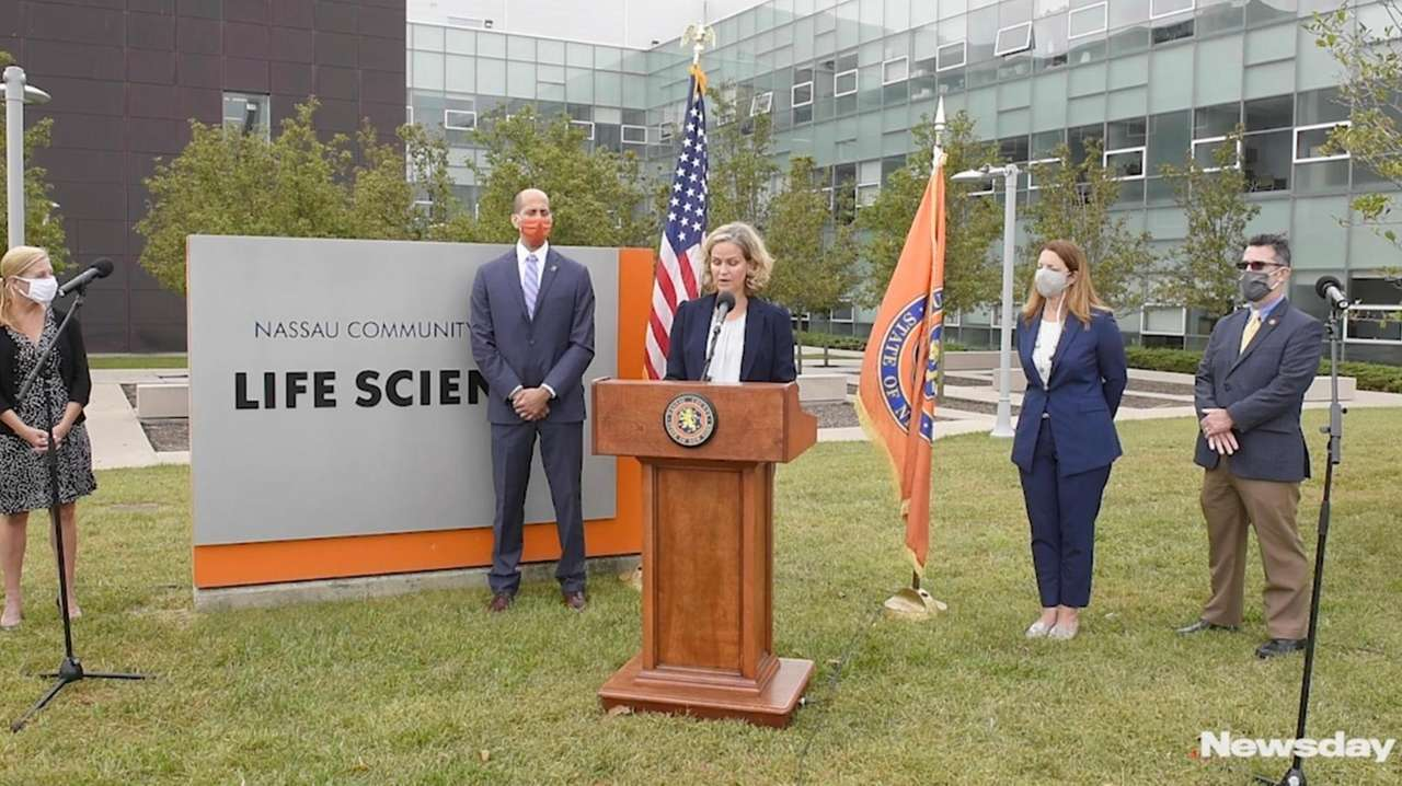 Nassau County Executive Laura Curran on Tuesday unveiled