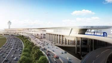 Supporters of the AirTrain link for LaGuardia Airport,